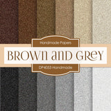 Brown and Grey Handmade Digital Paper DP4053 - Digital Paper Shop - 1