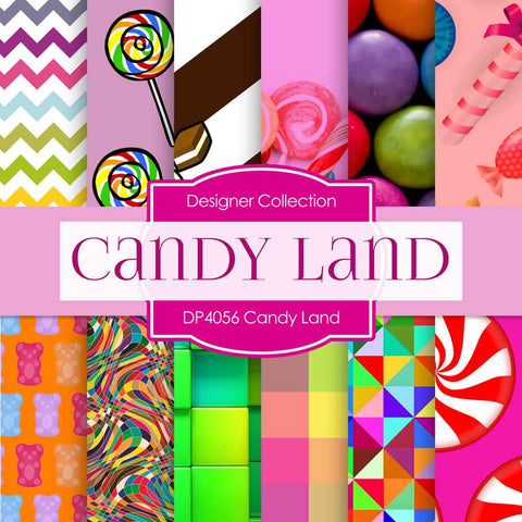 Candy Land Digital Paper DP4056 - Digital Paper Shop - 1