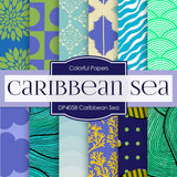 Caribbean Sea Digital Paper DP4058 - Digital Paper Shop - 1