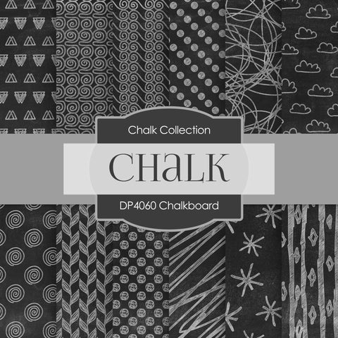 Chalkboard Digital Paper DP4060A - Digital Paper Shop - 1