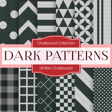 Chalkboard Digital Paper DP4061 - Digital Paper Shop - 1