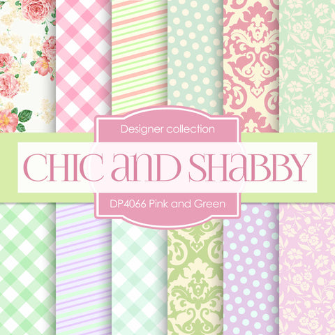 Chic and Shabby Digital Paper DP4066 - Digital Paper Shop - 1