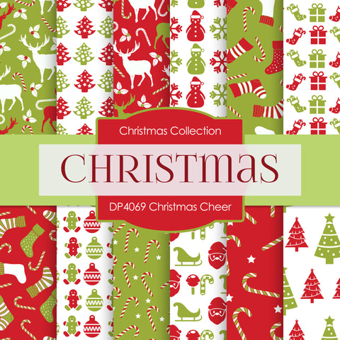 Christmas Cheer Digital Paper DP4069A - Digital Paper Shop - 1