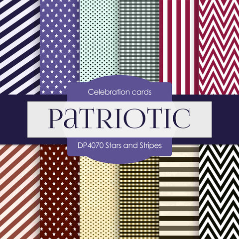 Stars and Stripes Digital Paper DP4070 - Digital Paper Shop - 1