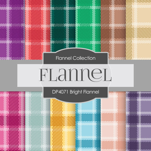 Bright Flannel Digital Paper DP4071A - Digital Paper Shop - 1