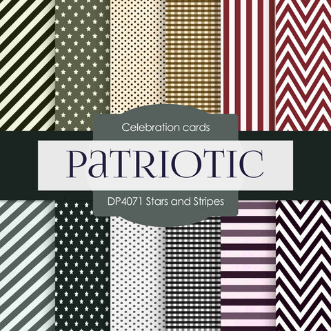 Stars and Stripes Digital Paper DP4071 - Digital Paper Shop - 1