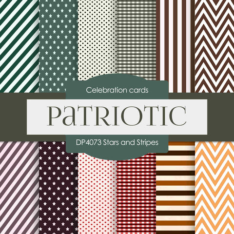 Stars and Stripes Digital Paper DP4073 - Digital Paper Shop - 1