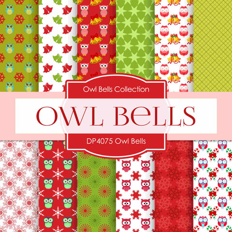 Owl Bells Digital Paper DP4075A - Digital Paper Shop - 1