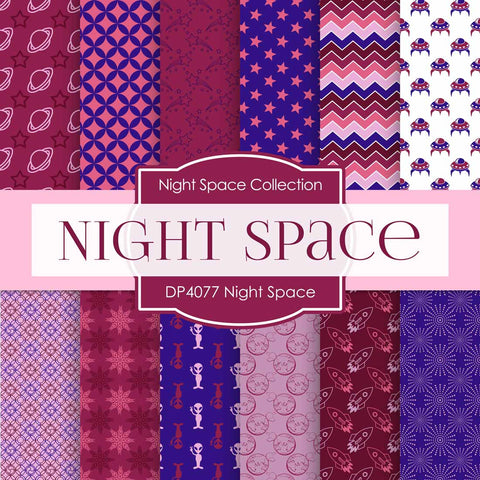 Night Space Digital Paper DP4077 - Digital Paper Shop - 1