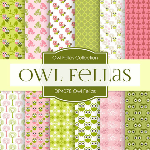 Owl Fellas Digital Paper DP4078 - Digital Paper Shop - 1