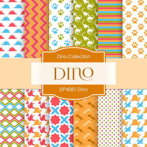 Dino Digital Paper DP4081 - Digital Paper Shop - 1