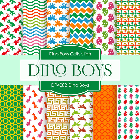 Dino Boys Digital Paper DP4082 - Digital Paper Shop - 1