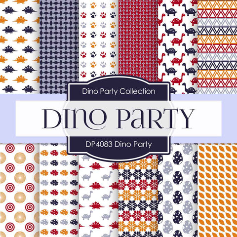 Dino Party Digital Paper DP4083 - Digital Paper Shop - 1
