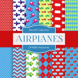 Airplanes Digital Paper DP4084 - Digital Paper Shop - 1