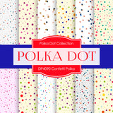 Confetti Polka Digital Paper DP4090 - Digital Paper Shop - 1