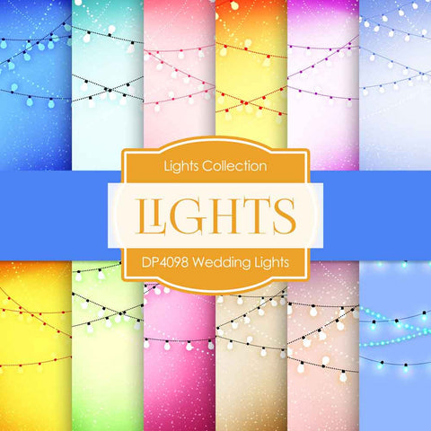 Wedding Lights Digital Paper DP4098 - Digital Paper Shop - 1