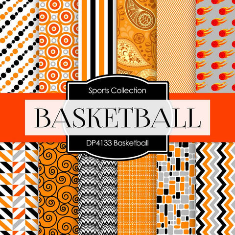 Basketball Digital Paper DP4133 - Digital Paper Shop - 1