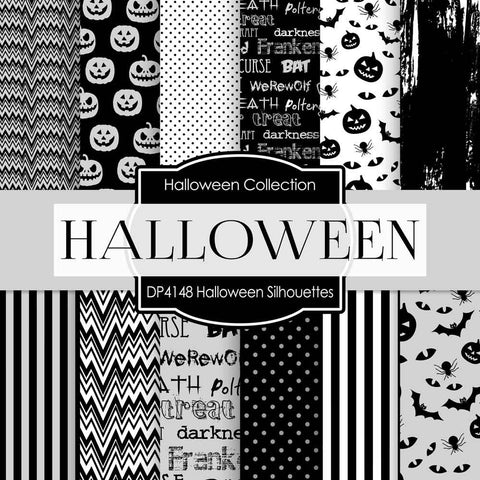 Halloween Silhouettes Digital Paper DP4148 - Digital Paper Shop - 1