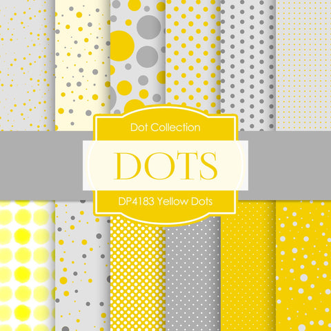 Yellow Dots Digital Paper DP4183