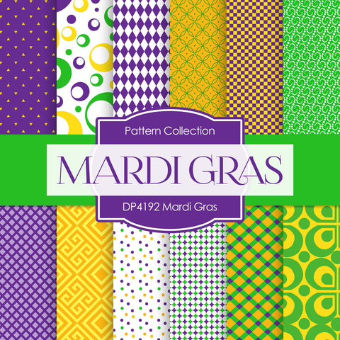Mardi Gras Digital Paper DP4192