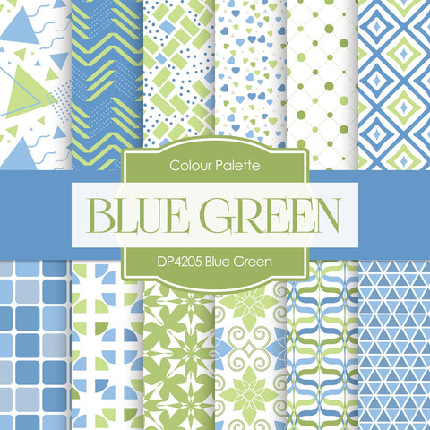Blue Green Digital Paper DP4205A
