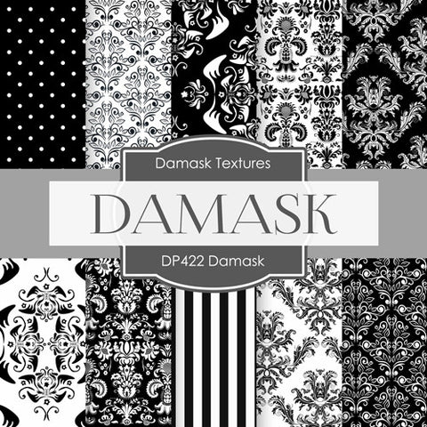 Damask Digital Paper DP422 - Digital Paper Shop - 1