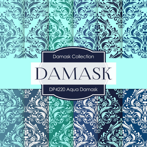 Aqua Damask Digital Paper DP4220A