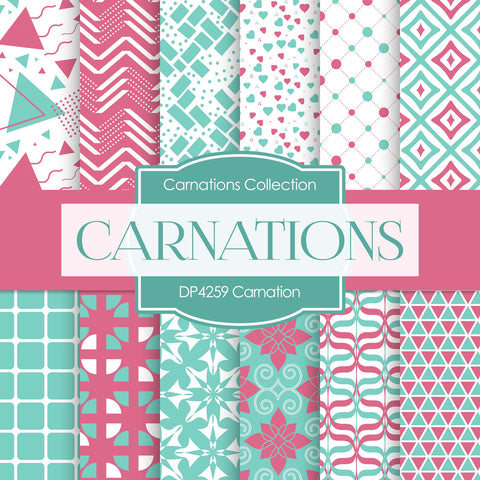 Carnation Digital Paper DP4259 - Digital Paper Shop - 1
