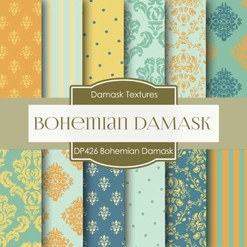 Bohemian Damask Digital Paper DP426 - Digital Paper Shop - 1