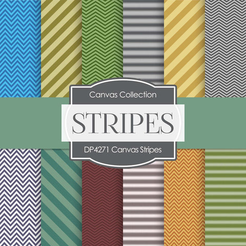 Canvas Stripes Digital Paper DP4271 - Digital Paper Shop - 1