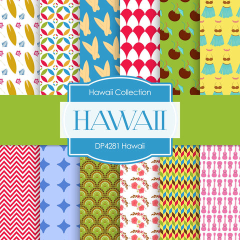 Hawaii Digital Paper DP4281 - Digital Paper Shop - 1