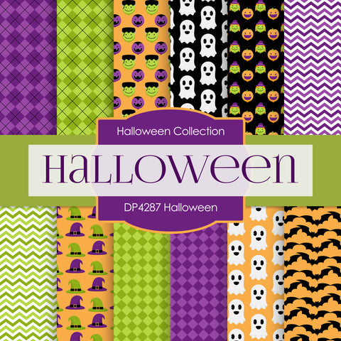 Halloween Digital Paper DP4287