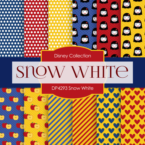 Snow White Digital Paper DP4293