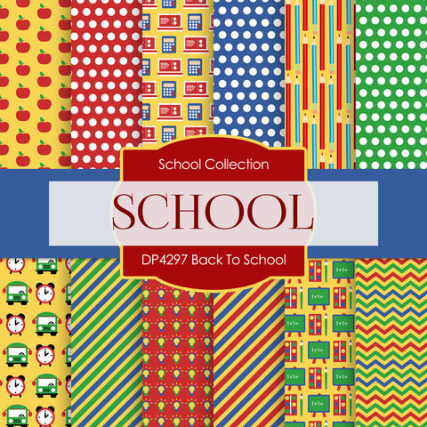 Back To School Digital Paper DP4297