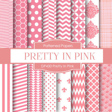 Pretty in Pink Digital Paper DP430 - Digital Paper Shop - 1