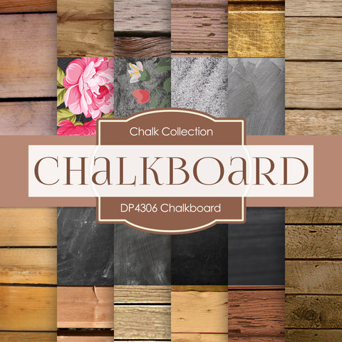 Chalkboard Digital Paper DP4306 - Digital Paper Shop - 1