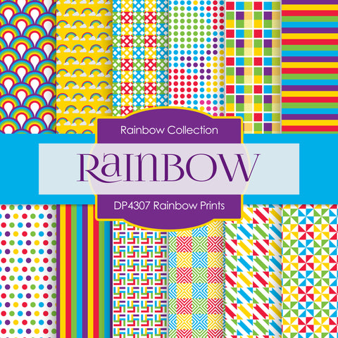 Rainbow Prints Digital Paper DP4307A