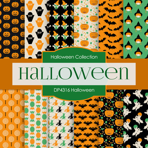 Halloween Digital Paper DP4316A