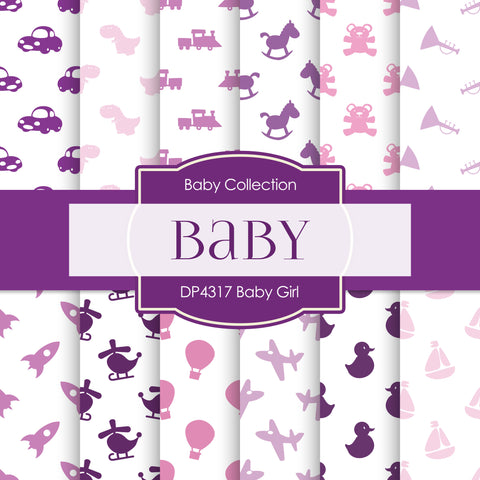 Baby Girl Digital Paper DP4317 - Digital Paper Shop - 1