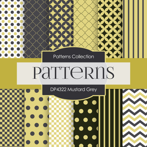 Mustard Grey Digital Paper DP4322