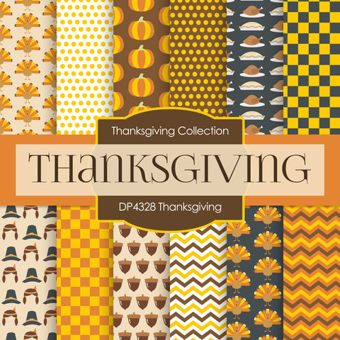 Thanksgiving Digital Paper DP4328