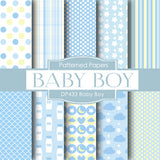 Baby Boy Digital Paper DP433 - Digital Paper Shop - 1