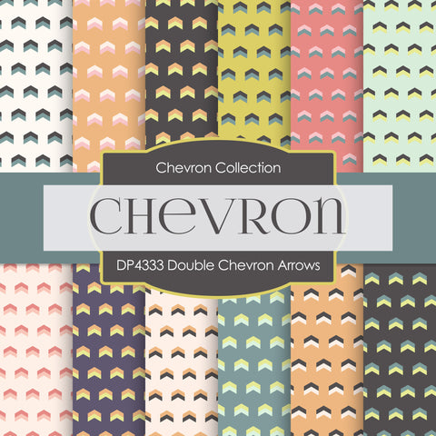 Double Chevron Arrows Digital Paper DP4333
