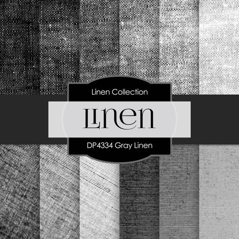 Gray Linen Digital Paper DP4334