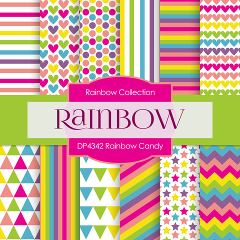 Rainbow Candy Digital Paper DP4342