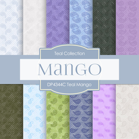 Teal Mango Digital Paper DP4344C
