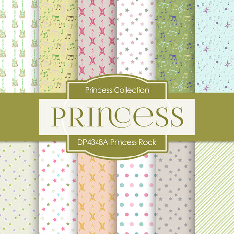 Princess Rock Digital Paper DP4348A