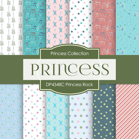 Princess Rock Digital Paper DP4348C