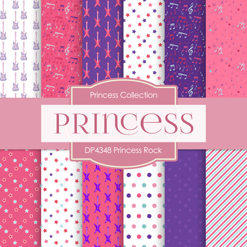 Princess Rock Digital Paper DP4348