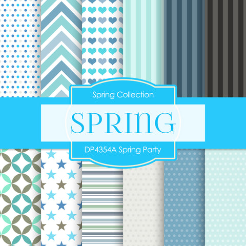 Spring Party Digital Paper DP4354A